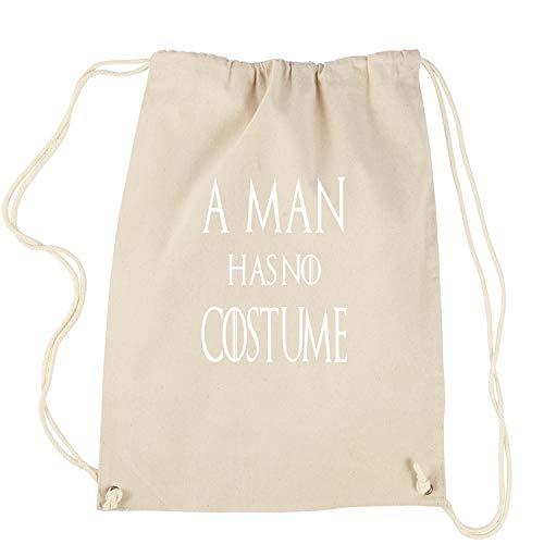 Expression Tees Damen Rucksack EIN Mann hat kein kostüm got Halloween-Rucksack Groß Natürlich