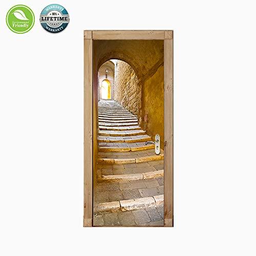 Adesivi Vinile Per Porte.Meetyours 3d Stickers Porta Adesivo Porta Scala Carta Parati Per