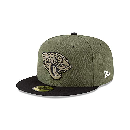 New Era Jacksonville Jaguars On Field 18 Salute to Service Cap 59fifty 5950 Fitted Limited Edition -