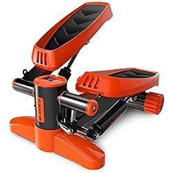 Contactsly-sport Máquina de Step, Entrenamiento Stepper Paso a Paso Ajustable de Aire Paso a Paso con Resistencia hidráulica (Color : Naranja, tamaño : Casual Size)