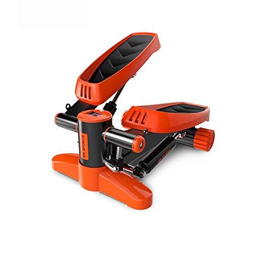 Tragbarer Mini Home Stepper Air Stepper Verstellbarer Twist Stepper mit hydraulischem Widerstand Für individuelles Sportfitness Workout (Farbe : Orange, Größe : Casual Size)