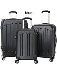 pellicano - Juego de maletas  Negro negro