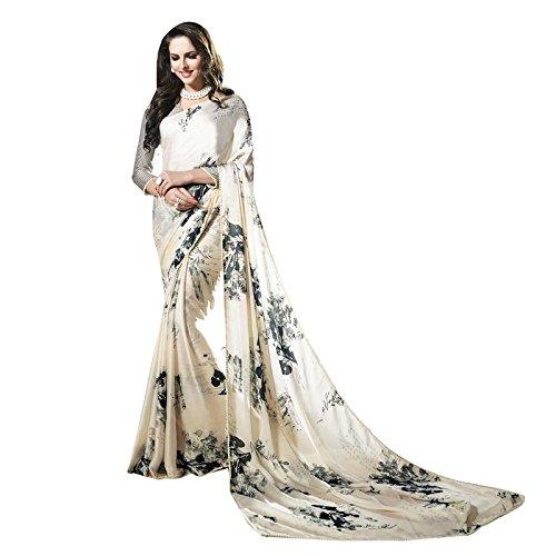 Shaily Multicolor Satin and Georgette Embellished Saree (ELLENA7013SSSR01)