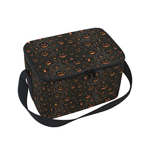 Ahomy Lunchbox Halloween Jack-O'-Lantern Isolierte Lunchtasche Kühltasche Lunchbox für Kinder und Erwachsene