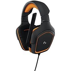 Logitech G231 Prodigy - Auriculares para Gaming estéreo (con micrófono para PC, Xbox One y PS4) Color Negro/Naranja