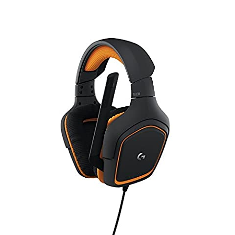 Logitech G231 Gaming Headphones Prodigy Stereo with Mic for PC, Xbox One and PS4 - Black/Orange