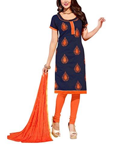 Nellai Sarees Women's Cotton Silk Unstitched Dress Material (Red)