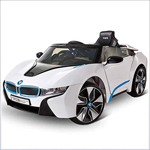 Ayy Kids Electric Ride On Toy Car BMW Autorisierung für Forward Speed Change White Electric Road Car Sportwagen