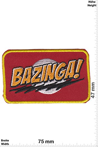 Patch - Bazinga! - Sheldons - The Big Bang Theory - Movie - Movie - The Big Bang Theory - Aufnäher - zum aufbügeln - Iron On