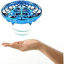 Umiwe Drone Ball Volador, Helicóptero De Inducción con Infrarrojos Interactivos con 3 Sensores Micro Drone - Drone De Manos Libres Hover con Luces Giratorias De 360 ° Led para Principiantes