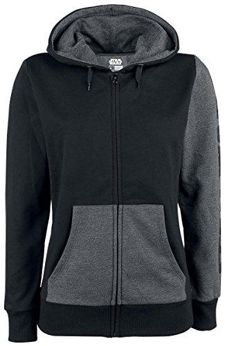 'Bioworld-Star Wars Rogue One † Galactic Empire Emblem Hoodie Black (Sweatshirt mit Kapuze Damen tg. XL) -
