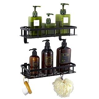 GERUIKE Duschregal Eckregal Dusche Ohne Bohren Dusche Ablage Eckablage Dusche Korb für Badezimmer und Küche Selbstklebend Rechteck Duschregal mit