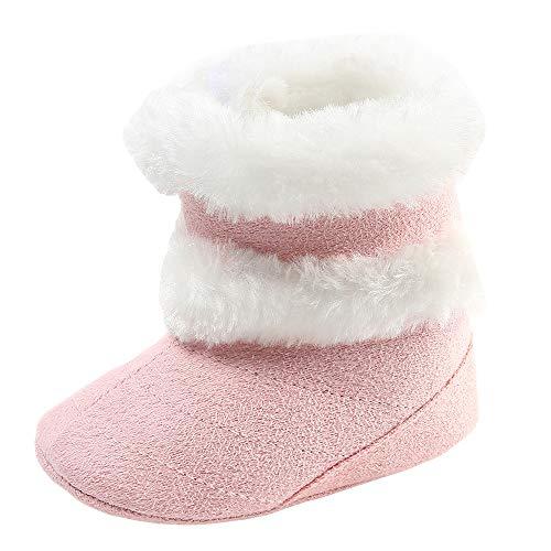 geborene Baby Mädchen Jungen Sneaker Lauflernschuhe Stiefel und Stiefeletten Winter Warm, Prewalker Schuhe Rutschfest Rutschfest Atmungsaktiv Weich Beiläufig ()