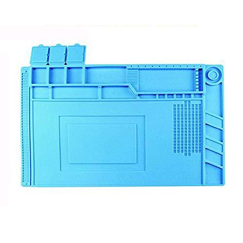 Abracing Magnetisch Silikon Wärme Isolierung Löten Matt Elektronik Rechner Reparatur Matt - Hellblau (Projekt-rechner)