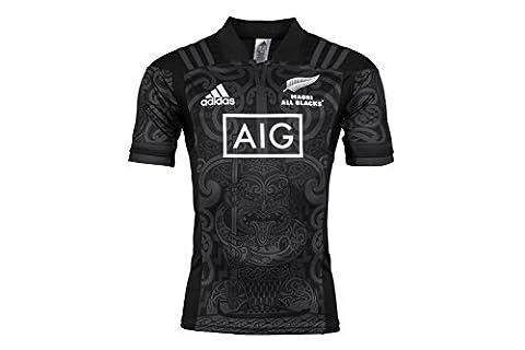 All Blacks Maori Nlle Zélande 2017 - Maillot de Rugby - Noir/Gris Foncé - taille XL
