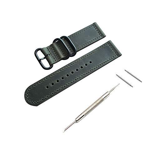 RUIXIN 20mm Cinturino in pelle per Garmin Vivoactive 3 , fascia di ricambio bracciale Cinturini per Samsung Gear sport, Gear S2...