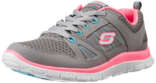 SkechersFlex Appeal Adaptable - Sneaker Donna, Grau (GYNP), 39