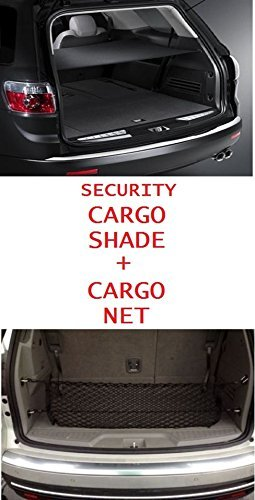 Cargo Security Flip Shade + Cargo Net for GMC ACADIA 2007 08 09 10 11 12 13 14 15 2016 - Ebony NEW by TrunkNets (Acadia Für Net Cargo)