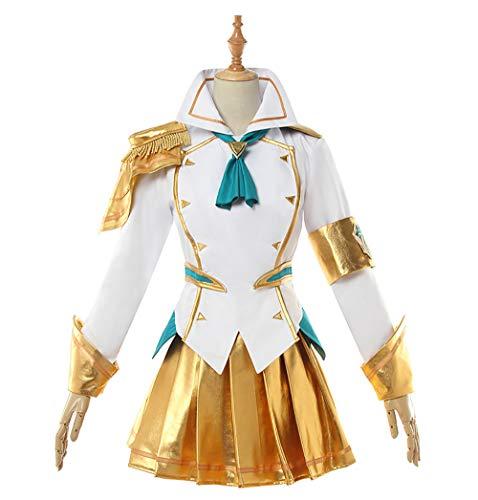 De Lux Kostüm - LOL League of Legends Cos Kampfakademie Die Herrin der Leuchtkraft Lux Cosplay Kostüm Halloween Party Weihnachten,M