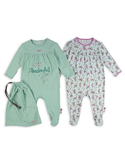 The Essential One – 'Vendimia' Pijama Pijamas para bebé niñas – Paquete de 3 – Rosa / Verde – ESS189