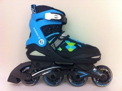 Stuf XOOM 2 BOY JR Black-blue - Inline Skate Jungen Gr.31-34