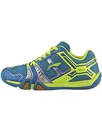 Li Ning - Zapatillas de Bádminton para Niño Verde Azul
