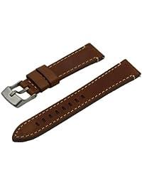17mm Conac Hipoalergnenica Ecologicamente Banda de reloj Cuero autnentico curtida con hebilla de titanio