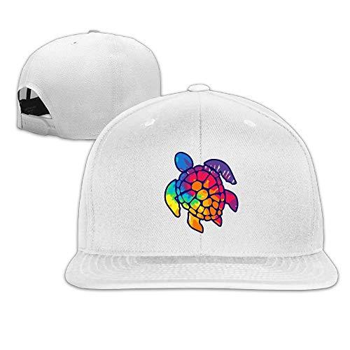 Vidmkeo Unisex Trucker Hat, Fashion Tie Dye Turtle Adjustable Hip Hop Flat Billed Baseball Hat ()
