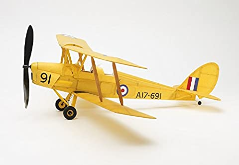 Tiger Moth complete vintage model rubber-powered balsa wood aircraft kit that really flies!