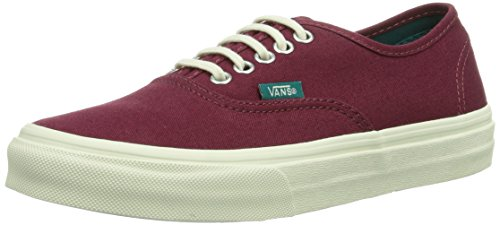 Vans U AUTHENTIC SLIM (POP) CORDOVAN/, Unisex-Erwachsene Sneakers, Rot ((Pop) cordovan/ / DXT), 38.5 EU (5.5 Erwachsene UK) (Billig Vans Schuhe)