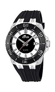 Reloj analógico Lotus 15805/1 de cuarzo para hombre con correa de caucho, color negro