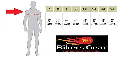 """sale retailer 25308 41344 Australian Bikers Gear Nero Vector-Giacca sportiva da moto, in pelle, con  motivo """""""