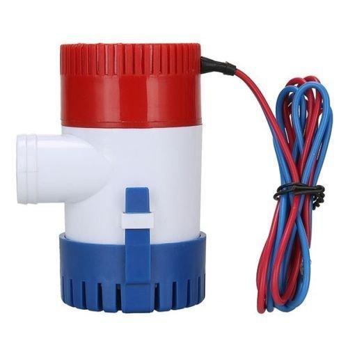 Nuzamas Automatische Bilgepumpe, tauchfähig, 12 V, 4100 l/h, 29 mm, für Wohnmobil, Camping, Boote, kleine Schwimmbecken und Brunnen