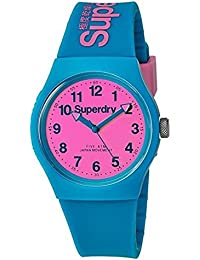 Superdry 'Urban' Quartz Plastic and Silicone Dress Watch, Color:Blue (Model: SYG164AUP)