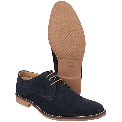 Base London Mens Bayham Suede Leather Casual Lace Up Derby Shoes Navy