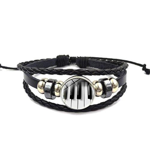 Piano Musique Cuir Corde Bracelet Cadeau Love Song pour Femme Fille Wife