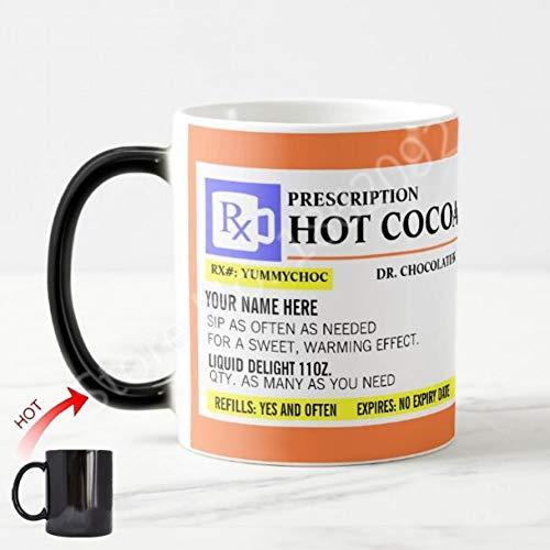 HUYHUY Heiße Personalisierte Heiße Kakao-Verordnungs-Becher-Lustige Verordnungs-Magische Kaffeetasse-Tee-Milch-Schalen-Neuheits-Gag-Geburtstags-Weihnachtsgeschenke