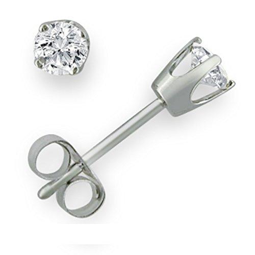 Original McPearl Solitär Diamant Ohrstecker 0,33 Karat. Top Qualität aus der Manufaktur. (Weißgold Ohrstecker Diamant)