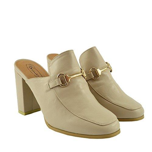 Kick Footwear - Donna del Blocco Tacco Pantofola Slingback Scarpe Zoccolo di Mulo Nudo Posteriore Aperto Sandalo Nudo