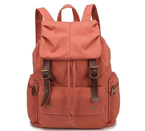 Xiuxiandianju 20L - 35L Freizeit Mann Tasche große Leinwand Schultertaschen Schultaschen orange red
