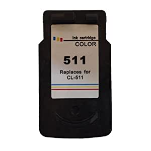 1x Ink Jungle CL511 (CL-511) Colour Remanufactured Ink Cartridge For Canon Pixma MP230 iP2700 iP2702 MP240 MP250 MP252 MP260 MP270 MP272 MP280 MP282 MP480 MP490 MP492 MP495 MP499 MX320 MX330 MX340 MX350 MX410 MX420 Printers