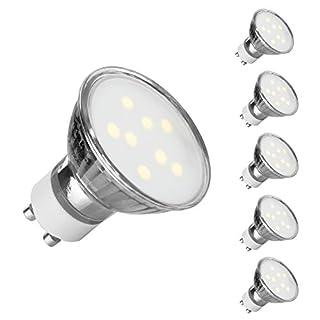 Ascher 5er Pack GU10 LED Lampe, Ersetzt 50W Halogenlampen (4W), 400 Lumen, Warmweiß (2900K), GU10 LED Birnen, Einbauleuchten, Schienenstrahler