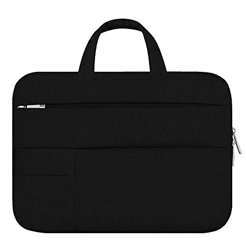Shopizone® Splash-proof Traveler Sleeve Bag with 1+6 Pockets for Macbook Air/Pro Microsoft Surface Laptop Notebook (11/13/14/15.6 Inch)