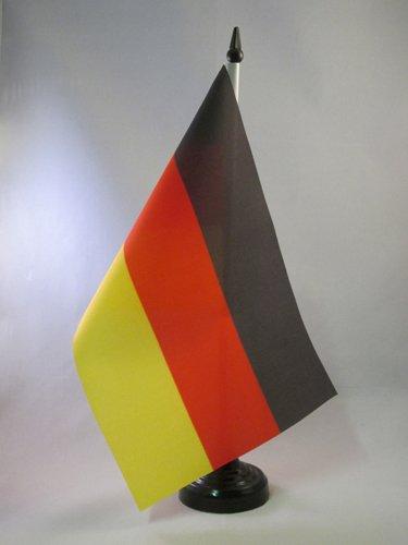 AZ FLAG TISCHFLAGGE Deutschland 21x14cm - DEUTSCHE TISCHFAHNE 14 x 21 cm - flaggen