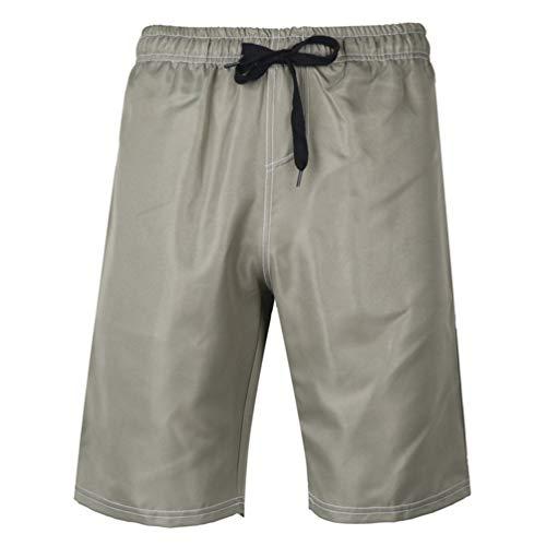 Feidaeu Herren Shorts Einfache Volltonfarbe Komfortabel weich schnell trocknend atmungsaktiv cool Stoff täglich gerade Jogginghose