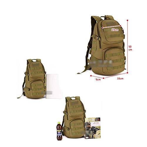 YAAGLE 35 L Rucksack outdoor Sporttasche Gepäck Bergsteigen Reisetasche Schultertasche Herren militärisch Sporttasche Schwarz