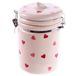 C ramique mini pink heart motif pot de rangement ustensiles de cuisine cuisine - Pot a ustensiles cuisine ...