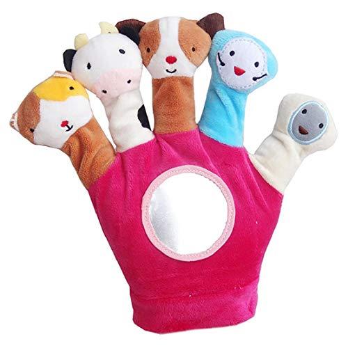 AMOYER Educational Handpuppen Handschuh-Karikatur-Tier-Plüsch-Spielzeug Auf Fingern Nette Puppe Für Kinder