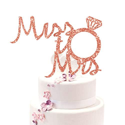 Kreatwow Fräulein zu Frau Cake Toppers - Rose Gold Brautdusche Bachelorette Engagement Cake Topper Dekorationen