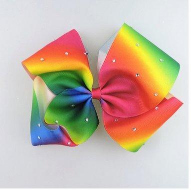 Landsell New Girl Schleife Haarspange Fashion Lady Schleife Tiara Lila, Polyester, Regenbogenfarben, 12*6cm